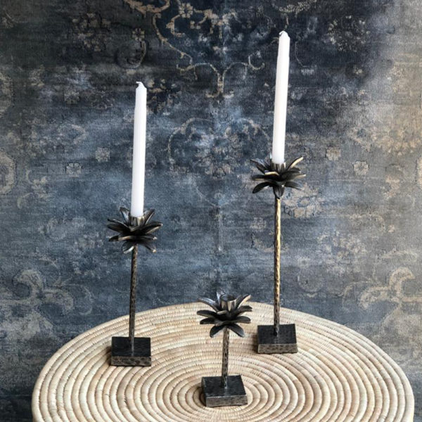 Antique Nickel Candle Sticks